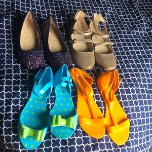Girls size 4 dress shoe bundle